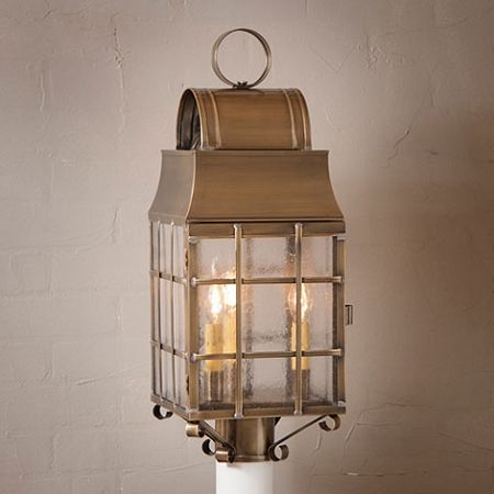 Washington Post Lantern In Weathered Brass By Irvins Country Tinware Find This Pin And More On Primitive Outdoor Lighting