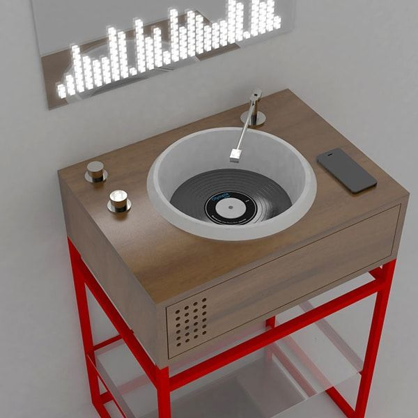 Vinyl Record-Inspired Bathroom Sinks Will Have You Dancing While Brushing Your Teeth