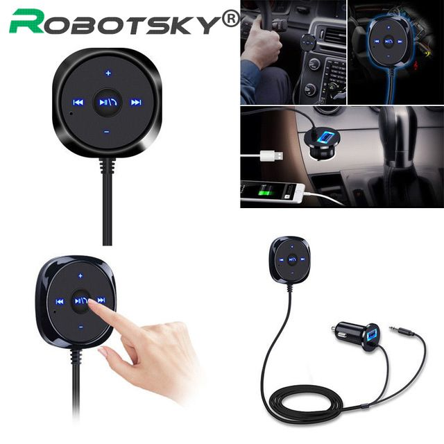 Bluetooth 2.1 Wireless 3.5mm Stereo Audio Music Receiver Car AUX Speaker Adapter
