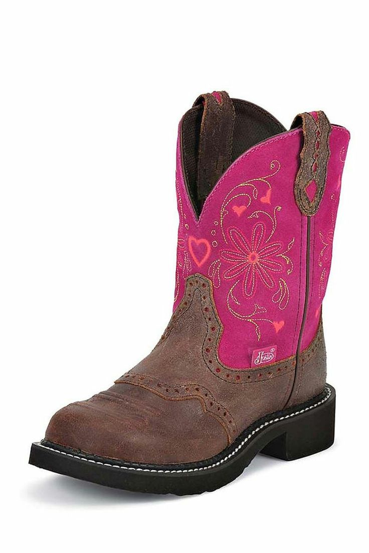 Cowgirl Boots | Justin Gypsy Fusion Pink Cowgirl Boot | Fashion Round Toe