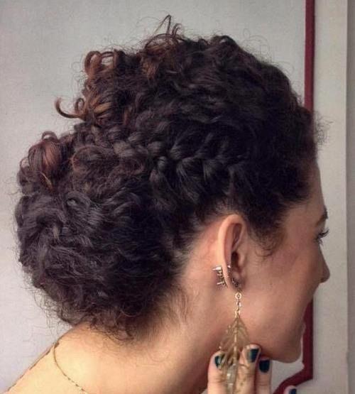 easy curly updo with a side braid ✨ Follow CindyLBB✨ Instagram: @cindyslbb Pinterest: @cindyslbb Snapchat: @cindyslbb
