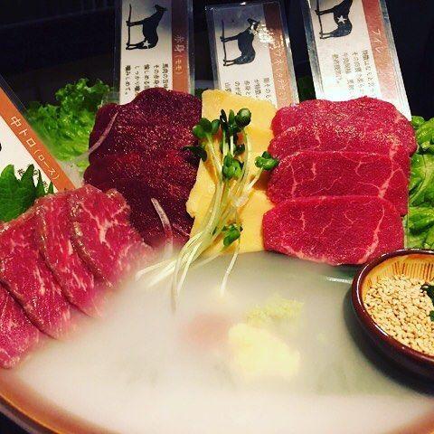 FOOD/美味しい御飯(^。^) 馬刺し盛り合わせ  #お吸い物#マグロ丼#ホタルイカ#割烹#馬刺し  #SUSHI#JAPAN#meat#CAKE#sweets#strawberry#fresh cream#cream#eel#crab#ramen#TOKYO#東京#日本料理#ラーメン#日本#日本一#蟹#肉#焼肉#ステーキ#しゃぶしゃぶ#サーロイン#美味しい#美味しい御飯#