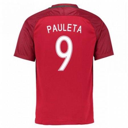 Portugal 2016 Pauleta 9 Hjemmedrakt Kortermet.  http://www.fotballpanett.com/portugal-2016-pauleta-9-hjemmedrakt-kortermet.  #fotballdrakter