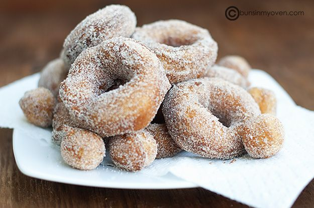 Donuts made from refrigerator biscuits.  Not healthy...but super easy!