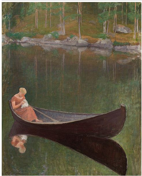 On the Water Pekka Halonen (1865-1933) Finnish Read more HERE
