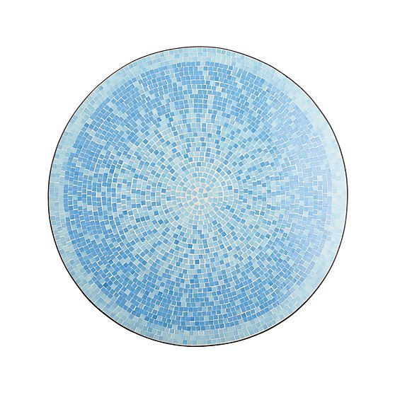 Mosaic Blue Coffee Table  | Crate and Barrel