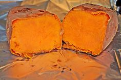 *PERFECTLY BAKED SWEET POTATO* Sweet Potato skins have more fiber than oatmeal and the potato has 42% of daily requirements for Vitamin C. They are ingredibly delicious. Grab some sweet potatoes or yams and SEE LINK FOR ENTIRE RECIPE http://www.thefreckledfoodie.com/how-to-bake-a-perfect-sweet-potato/#