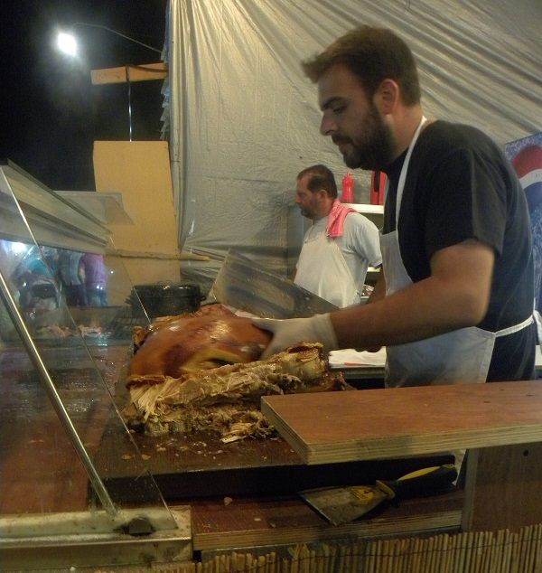 Gourounopoula (roasted pig); you can't have enough.....