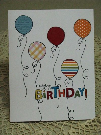 17 Best images about BALLOON CARD IDEAS – Birthday Card Drawing Ideas