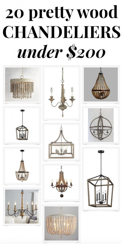 20 pretty budget-friendly wood chandeliers under $200 - such great light fixture options for the dining room or breakfast nook! Saving this for our kitchen renovation!