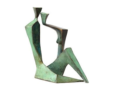 Couple  Bronze h=38cm Tomasz Wawryczuk Www.polishsculptors.pl