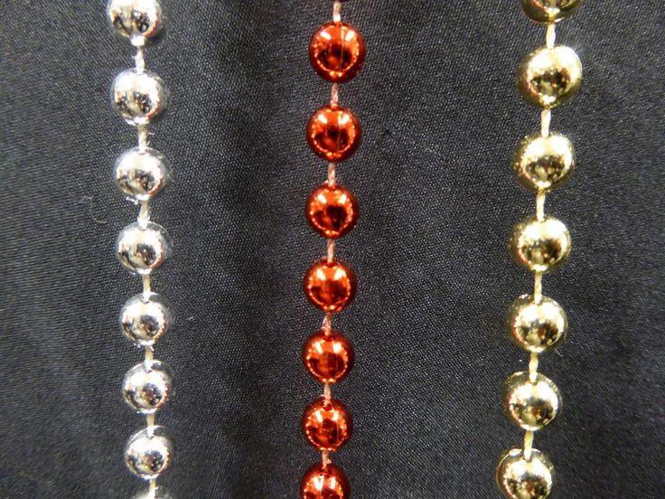 9m (30ft) Shiny Bead Garland Tinsel Christmas Tree Beads Decoration #UKGardens