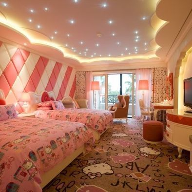 Stary Ceiling Bedroom Teenage Girl Design Pictures