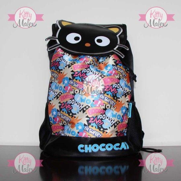 Mochila GRANDE Negra RUZ Chococat