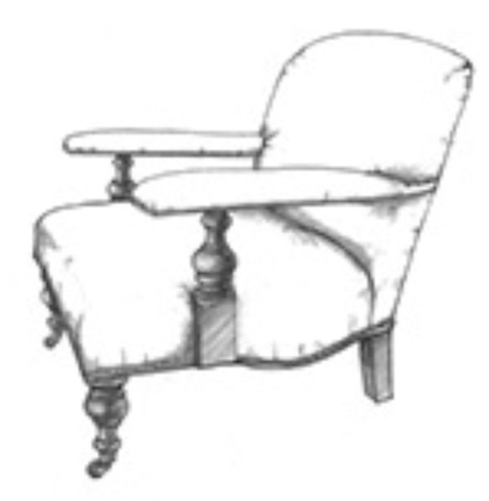 HF 708   Study Chair   Hallman Furniture