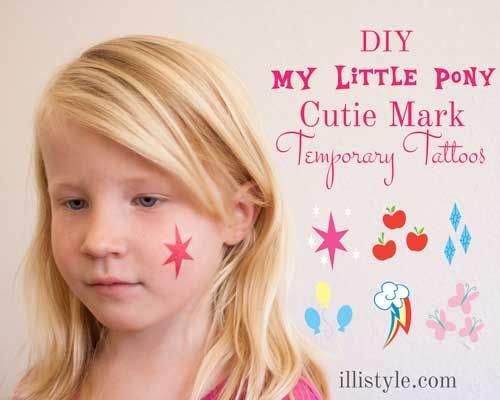 How to make My Little Pony Cutie Mark Temp Tattoos - illistyle.com