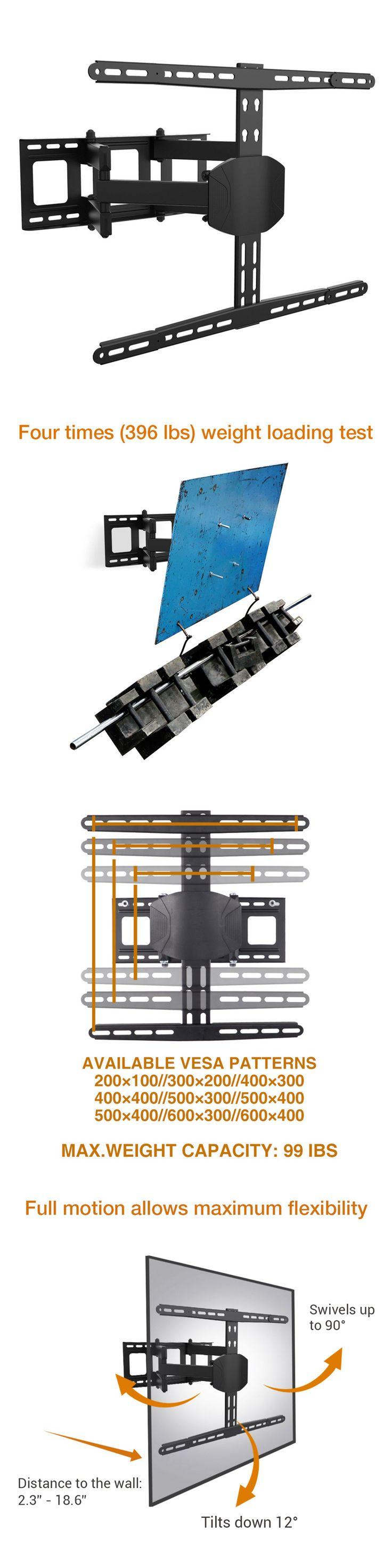 TV Mounts and Brackets: Loctek L8 Full Motion Articulating Swivel Lcd Led Plasma Tv Wall Mount Bracket -> BUY IT NOW ONLY: $54.99 on eBay!