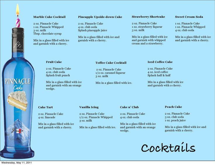 Cake vodka cocktails