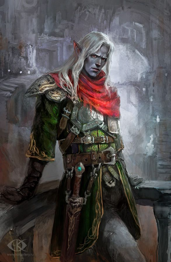 Dark Elf by IcedWingsArt.deviantart.com on @deviantART