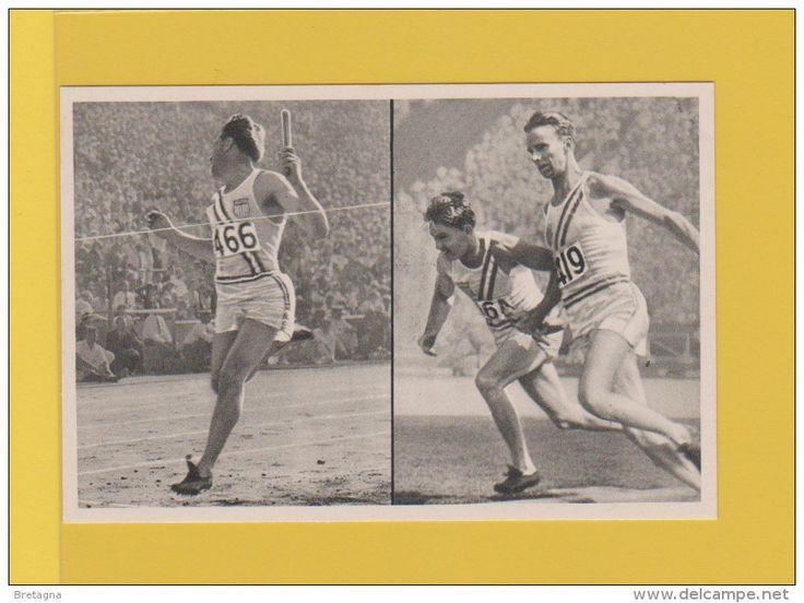 image jeux olympiques de 1932 - LES ÉTATS-UNIS D´AMÉRIQUE. remporte le relais 4 x 100 mètres : Frank Wykoff