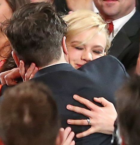 Aw! Carey Mulligan got teared up at the #Grammys when her husband, Marcus Mumford, won Album of the Year!