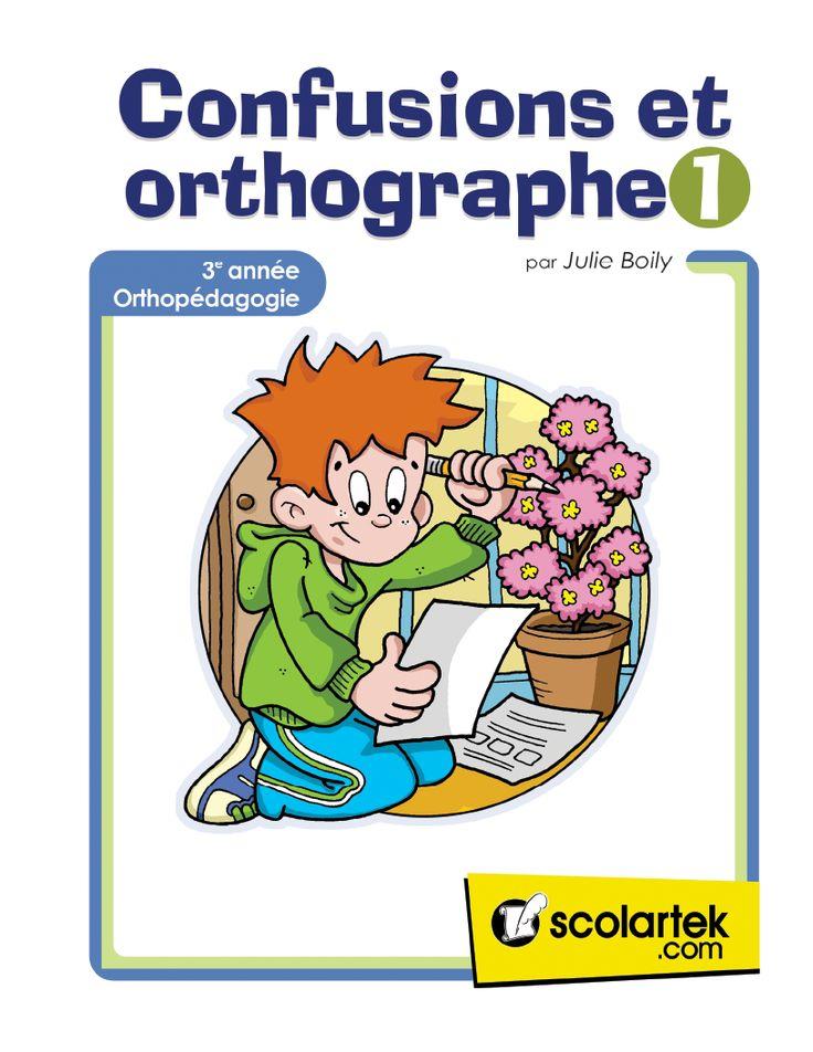 Confusions et orthographe 3e a été conçu pour appuyer le travail de l'enseignant(e) du niveau régulier ou de l'adaptation scolaire, pour les orthopédagogues et les orthophonistes. Il contient des exer