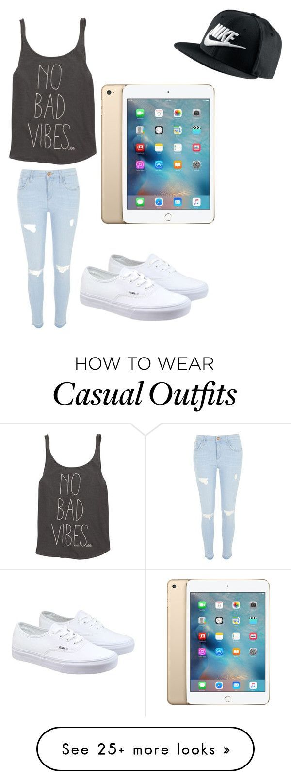 casual by pb8880 on Polyvore featuring River Island, Billabong, Vans, NIKE, womens clothing, womens fashion, women, female, woman and misses