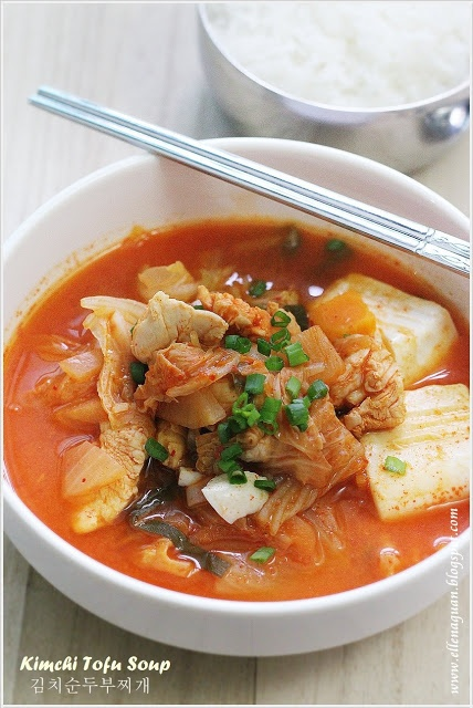 Kimchi Tofu Soup - 김치순두부찌개