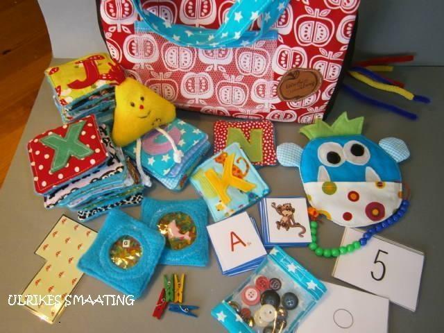 Umfassendes*Lernpaket* mit vielen tollen Spielen als Vorbereitung auf die Schule, bzw. Lernhilfe.  Es enthält:  *26 ABC- Fühlsäckchen*: diese sind gef