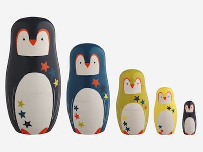 penguin nesting doll by habitat