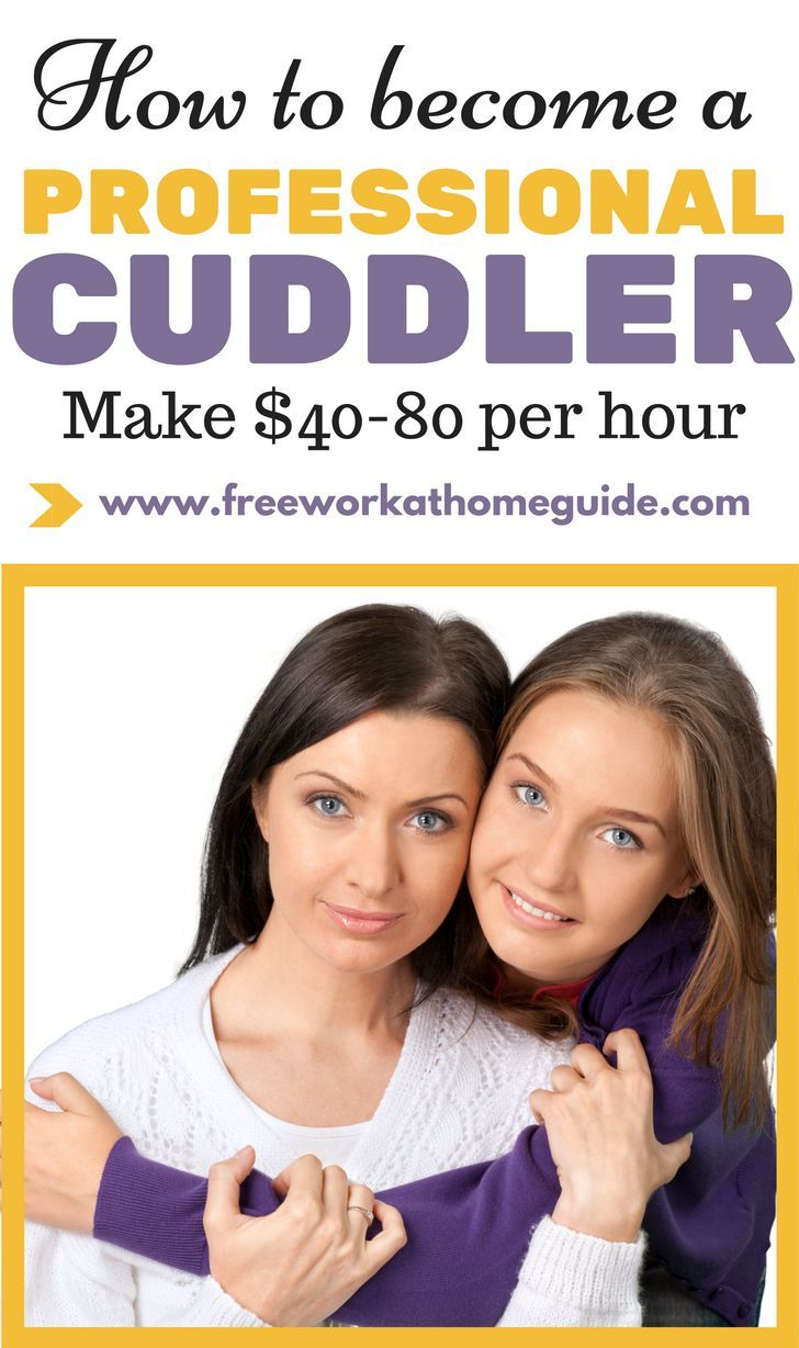 Many people can make around $40-$80 per hour by just cuddling with a random stranger. Yes, that's right! A professional cuddler.