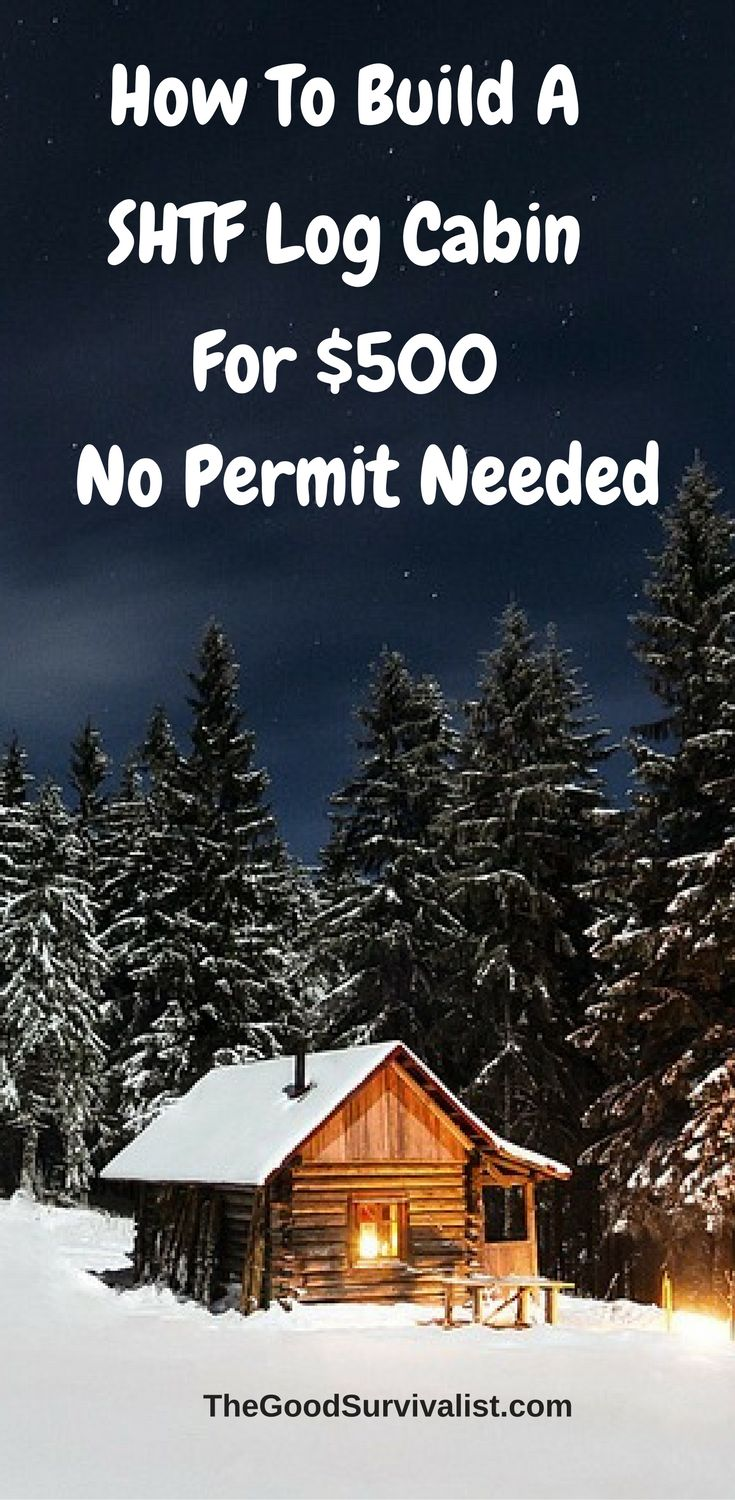 Hard to believe that in this day and age you can build one of these log cabins for around $500, and do it without a permit. In the following video you'll see how one person was able to pull it off. http://www.thegoodsurvivalist.com/simple-log-cabin-constructed-for-500-no-permit-needed/