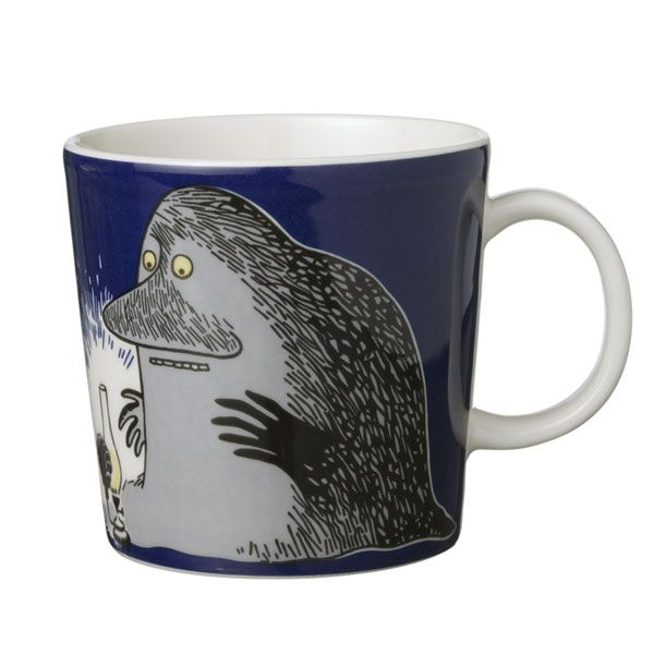 Moomin mug, Groke, by Arabia.