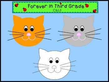 Cat Clip Art.There are 2 color images and 1 black and white image in this file. These files are saved as png files.