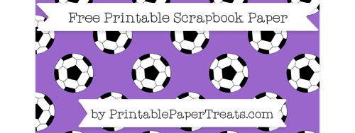 Landscape Amethyst Large  Soccer Ball Pattern Paper