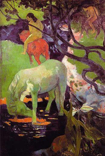 El caballo blanco. 1898. Óleo sobre lienzo. 141 x 91 cm. Museo de Orsay. París. Francia. Gauguin