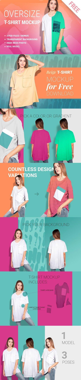 Download Woman Oversize T Shirt Mockup Set Shirt Mockup Tshirt Mockup Oversized Tshirt