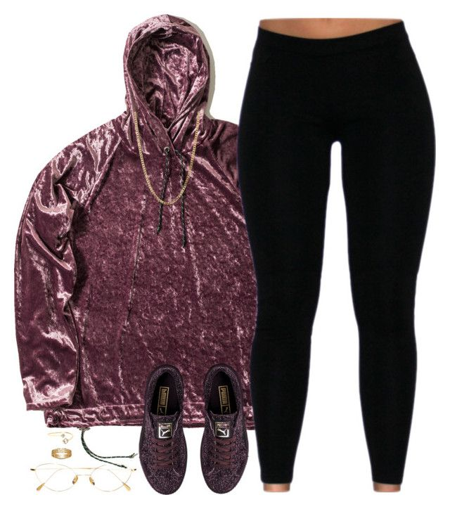 """""""Velour"""" by oh-aurora ❤ liked on Polyvore featuring nono, Puma, Bianca Pratt, Cutler and Gross, Gucci and Loren Stewart"""