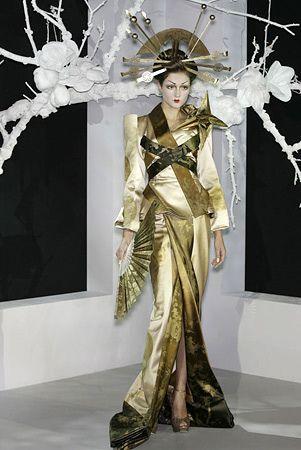 Modern Geisha inspired fashion by Christian Dior. | Asian ... | 301 x 450 jpeg 27kB