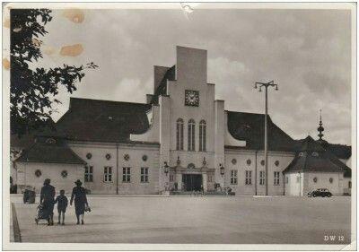 Gdynia dworzec kolejowy Fot. Całe Muller & Sohn Kartka wysłana do Berlina 25.01.1941 i tego samego dnia zawròcona, ciekawe dlaczego, nie przeszła cenzury ?