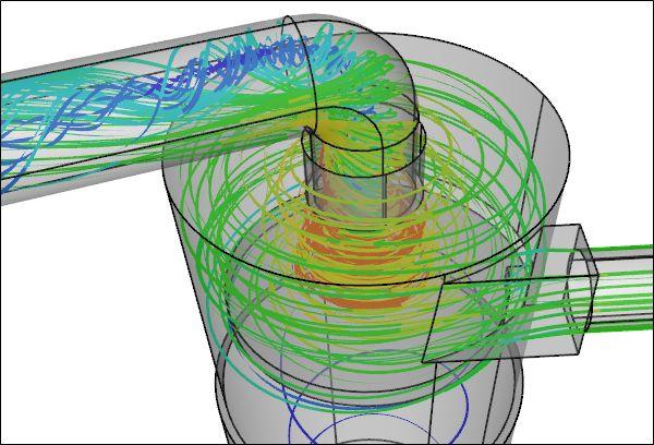 CFD Simulación de un ciclón colector de polvo