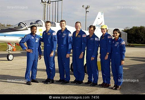The seven STS-107 crew members who died in an explosion of the Shuttle Columbia on Feb. 1, 2003, are: Rick D. Husband, mission commander; Kalpana Chawla, mission specialist; and William C. McCool, pilot. Astronauts David M. Brown, Laurel B. Clark, and Michael P. Anderson, all mission specialists; and Ilan Ramon, payload specialist representing the Israeli Space Agency.