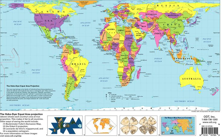 the hobo dyer projection closer to accurate size description find this pin and more on true world maps