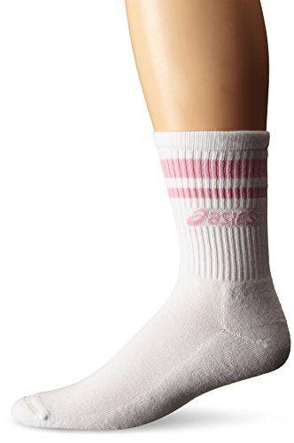 ASICS Old School Crew Socks White/Pink Medium