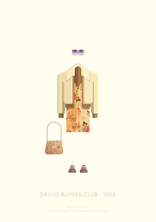 Dallas Buyers Club (2013) ~ Minimal Movie Poster by Frederico Birchal ~ Costume …