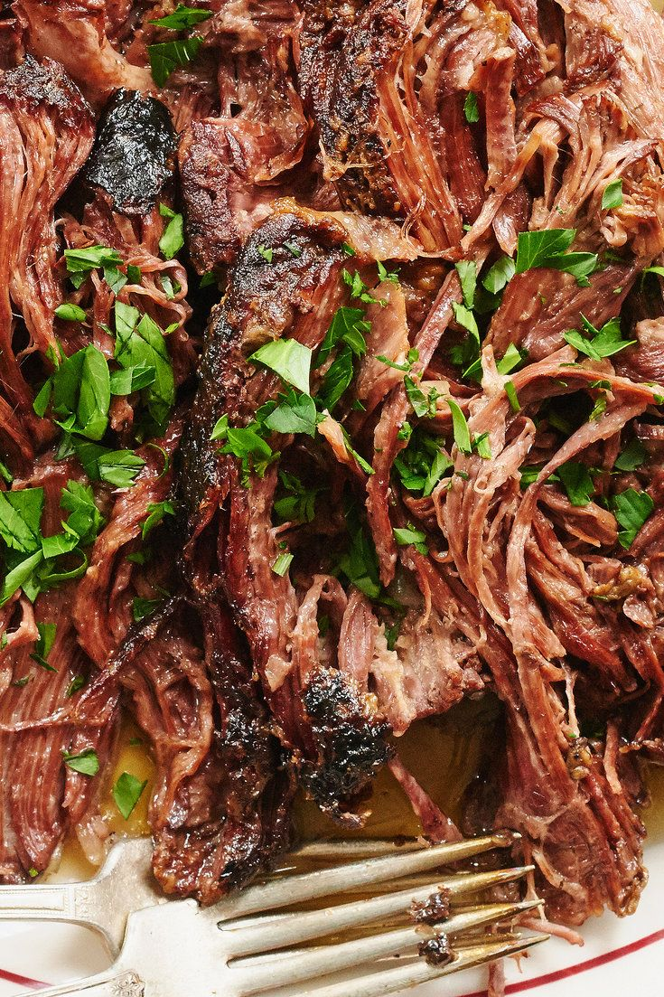 "NYT Cooking: An Internet darling of a recipe, a favorite of mom bloggers and <a href=""https://www.pinterest.com/nytfood/"">Pinterest</a>, Mississippi Roast is traditionally made by placing a chuck roast in a <a href=""http://thesweethome.com/reviews/best-slow-cooker/"">slow cooker</a> and simmering it beneath a stick of butter, a package of ranch dressing mix, another of ""au jus"" gravy mix and a handful of..."