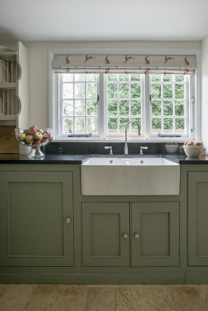 Get The Look For Less English Cottage Country Kitchen Farmhouse Green Kitchen Cabinets Cottage Kitchens