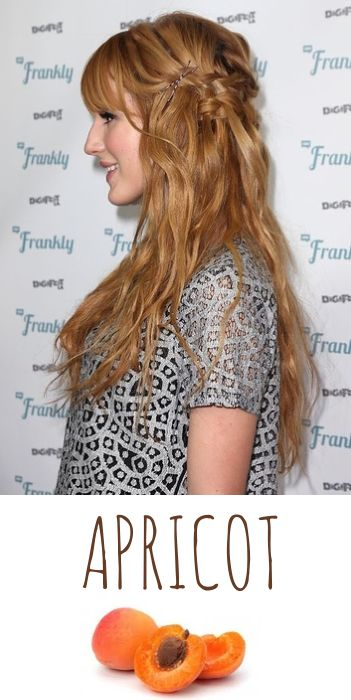 Molly needs apricot hair!  :-)  2014 Hair Trends: Golden Apricot Blonde! #hairtrends #goldenblonde