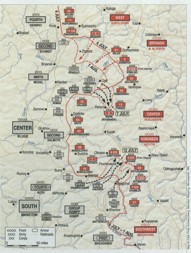 E7 Kursk, the largest Armored battle in History. 2 million men, 6,000 Armored vehicles. At least half of the vehicles were tanks.