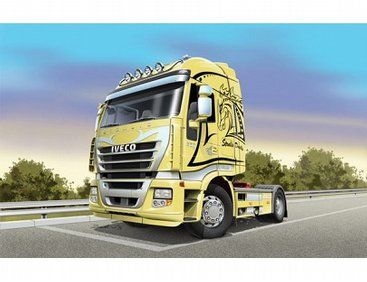 The Italeri 1/24 Iveco Stralis from the plastic aircraft model kit range accurately recreates the real life Italian truck.